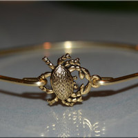 Crab Bangle, Crab Bangle bracelet, Gold Crab, Beach Jewelry, Cancer Zodiac Sign, Ocean Jewelry, stacking bangle, stacking bracelet