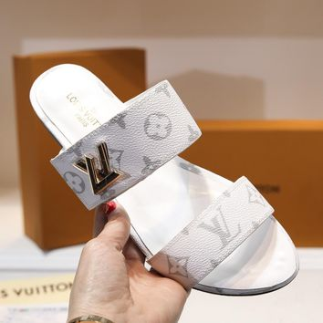 LOUIS VUITTON LV white Leisure time Slipper