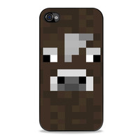 the cow minecraft Iphone 4s Cases