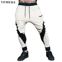 Spring New Sweatpants Men Solid Workout Bodybuilding Clothing Casual GYMS Fitness Joggers Pants Skinny Trousers