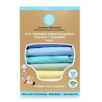 Charlie Banana® 6-Pack 2-in-1 Cloth Diapers in Pastels