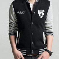 Sports On Sale Hot Deal Men Jacket Hoodies Korean Alphabet Embroidery Baseball [10352111683]