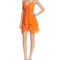 Alice and OliviaDelilah Tiered Stretch-Silk Dress