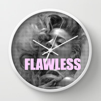 FLAWLESS Wall Clock by Trend | Society6