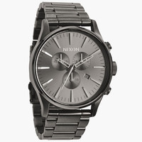 Nixon The Sentry Chrono Watch All Gunmetal One Size For Men 24407111201