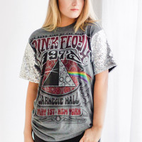 Sequin Sleeve Band Tee | The Dark Side of the Moon