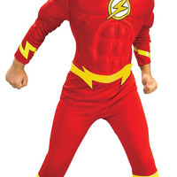 boy's costume: flash muscle chest | large