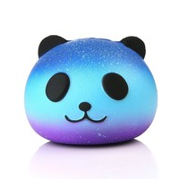 HOT Funny Kids Baby Toys 10CM Panda Cream Scented Infant Sky Blue Stress Relief Toys Squishy Slow Rising Squeeze Kid Charm Gift