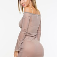 Syra Mesh Cover Up - Taupe
