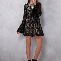 Free People Womens Dulce Mini Dress