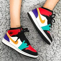Nike Air Jordan 1 AJ 11 high-top Sneakers basketball shoes Colorful