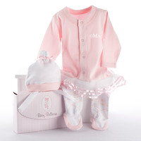 Baby Ballerina Two Piece Layette Set in Gift Box