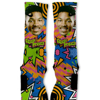 Fresh Prince Fast Shipping!! Nike Elite Socks Customized