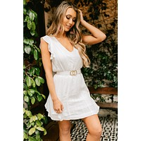 Warm Weekends Embroidered Dress (Ivory)