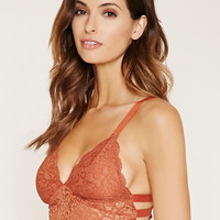 Caged Ornate Lace Bralette