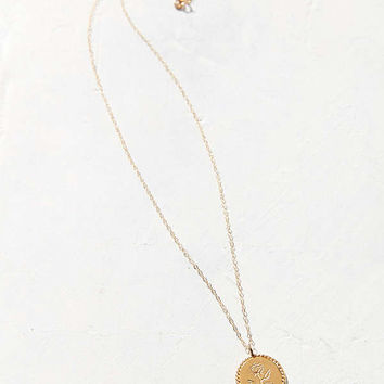 Wolf Circus Rose Coin Pendant Necklace   Urban Outfitters
