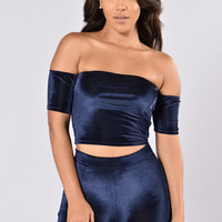 Velvet Night Top - Navy