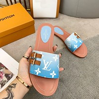 Louis Vuitton LV By the Pool Monogram Women's Sandals Slippers Shoes