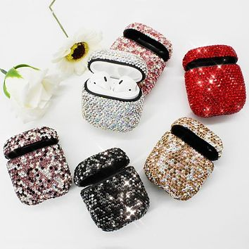 Luxury Diamond Decorative Case for Apple AirPods Case Accessories Wireless Bluetooth Earphone Protective Cover Airpod Shell Case
