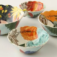 Painted Amaryllis Measuring Cups by Anthropologie in Multi Size: One Size House & Home