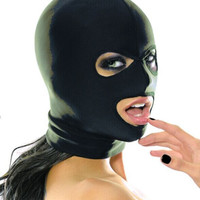 Strong Elastic Spandex Mask hood with open eyes and mouth holes, Cosplay hood
