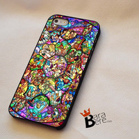 All Characters Disney Stained Glass iPhone 4s iphone 5 iphone 5s iphone 6 case, galaxy s3 galaxy s4 galaxy s5 case, galaxy note 3 galaxy note 4 case