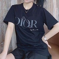 Alwayn Dior 2020 New Cotton Air Compression 3D Stereo Skinny Round Neck Half Sleeve T-Shirt