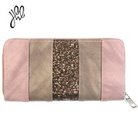2018 New Wallet For Women Vintage Leather Wallets Fashion Long Lady Purse Brand Party Clutch Wallet Bling For Money Card Holders