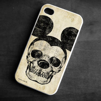 IPhone Case Mickey Mouse skull Soft TPU Gel Silicone Cover iPhone  4/4S gothic art