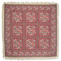 """DaDa Bedding Field of Roses Floral Red Garden Square Tapestry Dining Table Cloth - 60"""" x 60"""" (5594)"""