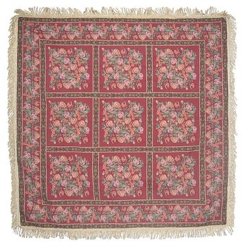 "DaDa Bedding Field of Roses Floral Red Square Tapestry Table Cloth - 60"" x 60"" (5594)"