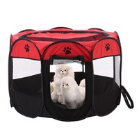 8-side Foldable Pet tent Dog House Cage Dog Cat Tent Playpen Puppy Kennel Easy Operation Octagonal Fence outdoor supplies