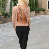 sexy jumpsuit with an open back from cocosha