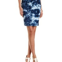 Acid Wash Denim Pencil Skirt by Charlotte Russe