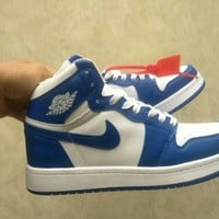 """""""Nike Air Jordan I"""" Unisex Casual Fashion Multicolor High Help Basketball Plate Shoes Couple Sneakers"""