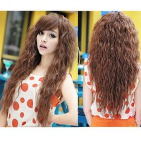 DAYISS® Womens Girls Fashion New Sexy Long Full Curly Wavy Hair Wigs Cosplay 3 Colors (Light Brown)