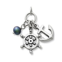 Anchors Aweigh Pendant with Pearl | James Avery