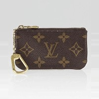 Louis Vuitton LV Classic Popular Key Pouch Clutch Bag Coin Purse Small Wallet
