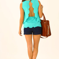 Build Me Up Top: Turquoise