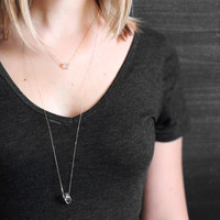 Black Tibetan Double Terminated Quartz Necklace