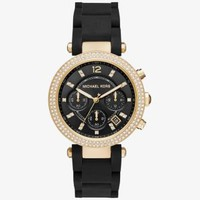 Parker Pavé Gold-Tone and Silicone Watch | Michael Kors