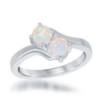 Us2gether Ring, White Opal