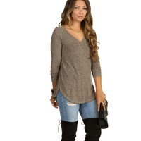 Brown All I Want Sweater