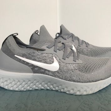 SOLD OUT Nike Epic React Flyknit Shoes GREY PLATINUM AQ0067-002 Size 11 Rare