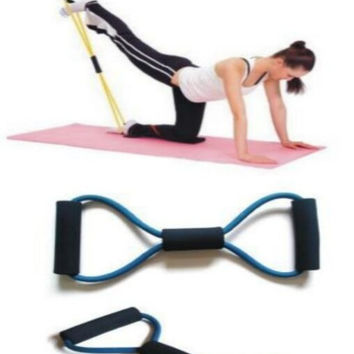 Fitness Workout Yoga  Pull Rope Lines Bands Belt  Gym Body Building Resistance Training Fitness Equipment Tool = 1933312836