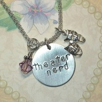 Theater Nerd Hand Stamped Sterling Silver Necklace