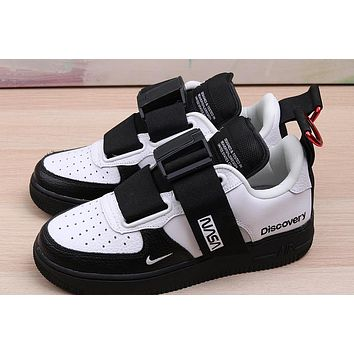 Air Force 1 low utility NASA military black and white