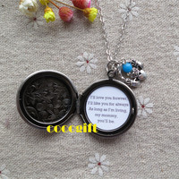 Always My Mommy Mother Gift Mother Necklace I'll Love You Forever Quote Locket Necklace Claddagh Heart charm Necklace