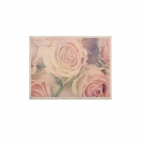 """Suzanne Carter """"Faded Beauty"""" Blush Floral KESS Naturals Canvas (Frame not Included)"""