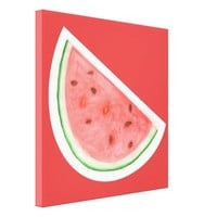 Watercolour Watermelon - Wrapped Canvas Canvas Print